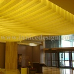 Interior Use of Luminescent Alabaster Stone on the Ceilling Decorationfor Hotel