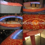 Innice River Pebble Stone Bar Top and Floor