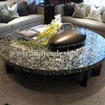 chinese river shell mosaic table top